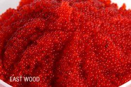 Икра летучей рыбы «Тобико» East Wood малиновая 500 гр. в упаковке
