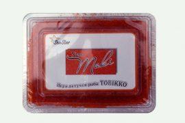 Икра летучей рыбы «Тобико» NEO малиновая 500 гр. в упаковке
