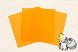 Маменори (пресованые листы) замороженные  оранжевые 100 гр. в упаковке