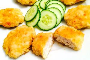 Наггетсы из мяса птицы (курица) 1.115 кг. в упаковке