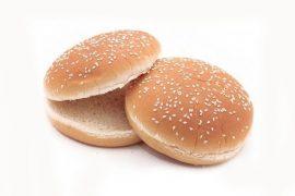 Булочка  для гамбургера c кунжутом 10 см. 48 шт. в упаковке