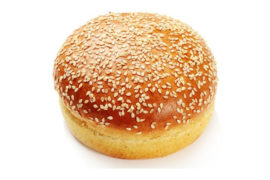 Булочка для гамбургера c кунжутом 12 см. 24 шт. в упаковке
