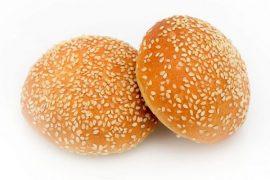 Булочка для гамбургера c кунжутом «8 Сезон» 12,5 см. 40 шт. в упаковке