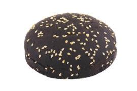 Черная булочка для гамбургера c кунжутом «8 Сезон» 10 см. 60 шт. в упаковке