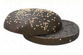 Черная булочка для гамбургера c кунжутом 12 см. 12 шт. в упаковке
