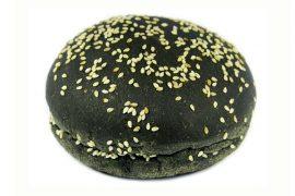 Черная булочка для гамбургера c кунжутом «8 Сезон» 12,5 см. 40 шт. в упаковке