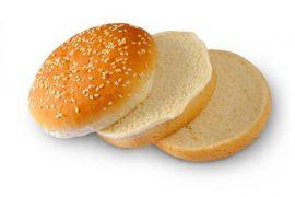 Тройная булочка для гамбургера c кунжутом 10 см. 24 шт. в упаковке