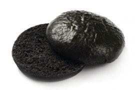Черная булочка для гамбургера без кунжута «8 Сезон» 12,5 см. 40 шт. в упаковке