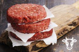 Котлета 60 гр./шт. для гамбургера из говядины «Мраморная» Премиум 5 кг. в коробке