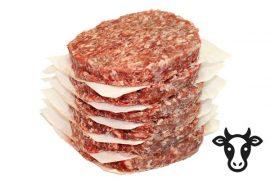 Котлета 90 гр./шт. для гамбургера из говядины «Мраморная» Премиум 5 кг. в коробке
