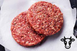 Котлета 45 гр./шт. для гамбургера из говядины «Деликатесная» 5 кг. в коробке